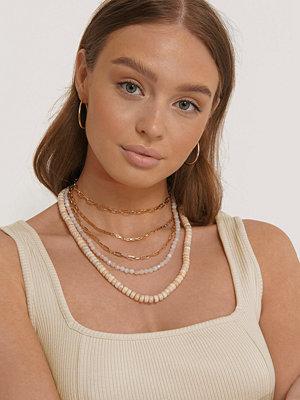 NA-KD Accessories smycke Halsband I Lager Med Stenar guld