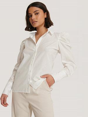 Trendyol Skjorta Med Puffärm vit