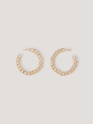 NA-KD Accessories smycke Matta Kedjehoopörhängen guld