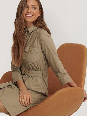 Mango Skjortklänning Med Skärp brun