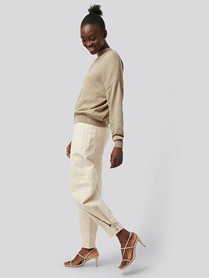 Jeans - NA-KD Reborn Jeans Med Vida Ben vit