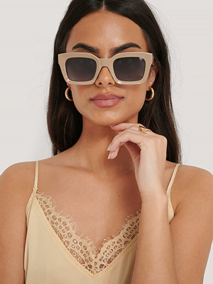 NA-KD Accessories Square Frame Sunglasses beige
