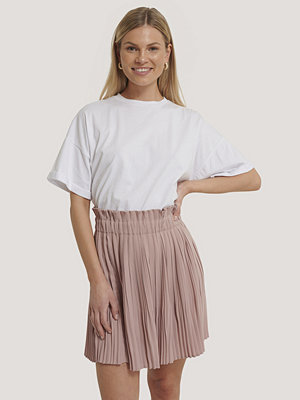 NA-KD Paper Waist Mini Skirt rosa