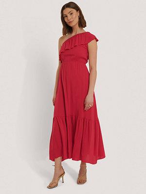 Trendyol Maxiklänning Med En Axel röd