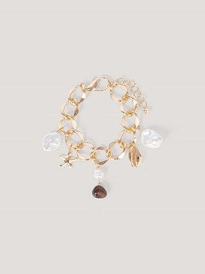 NA-KD Accessories smycke Chunky Vristlänk Med Hänge guld