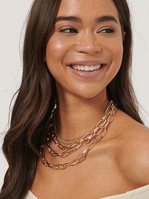 NA-KD Accessories smycke Halsband Med Ovala Kedjor I Lager guld