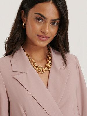NA-KD Accessories smycke Halsband Med Oversize Tjock Kedja guld