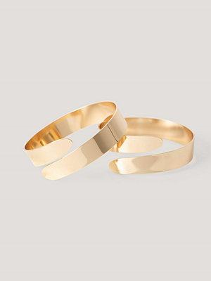 NA-KD Accessories smycke 2-Pack Arm Cuffs guld