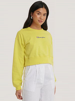 Champion Crewneck Croptop gul