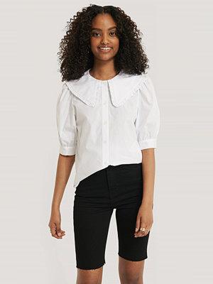 Mango Skjorta Med Kragdetalj vit