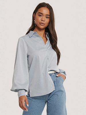 NA-KD Skjorta Med Ballongärm blå