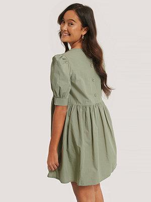 NA-KD Kortärmad Miniklänning I Bomull grön