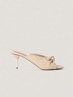 Pumps & klackskor - NA-KD Shoes Mulesandaler Med Klack rosa
