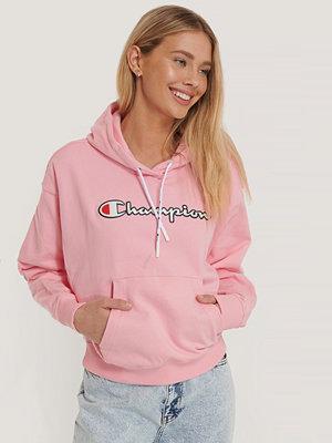 Champion Sweatshirt Med Huva rosa