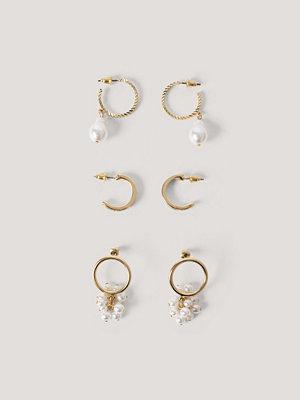 NA-KD Accessories smycke Flerpack Flätade Minihoops guld