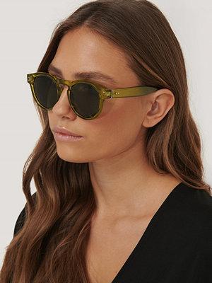 NA-KD Accessories Solglasögon Med Runda Bågar grön