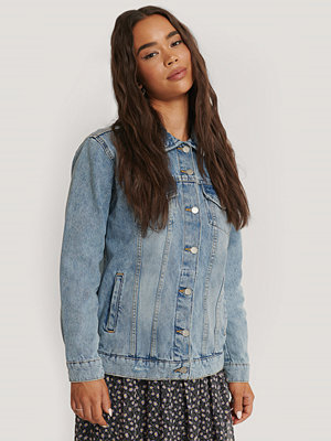 Dr. Denim River Trucker Jacket blå