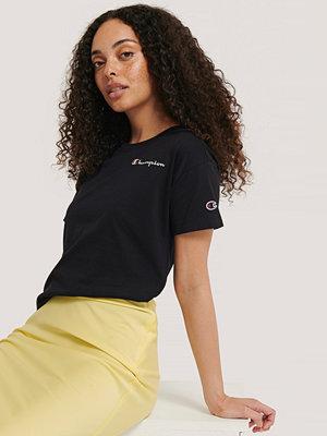 Champion T-Shirt Med Rund Halsringning Och Logo svart