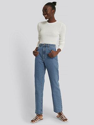 Jeans - NA-KD Reborn Raka Jeans Med Hög Midja blå