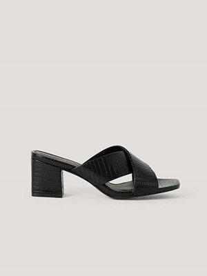 NA-KD Shoes Mules-Sandal Med Korsade Band svart