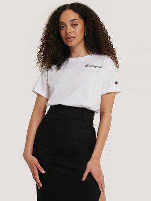 Champion T-Shirt Med Rund Halsringning Och Logo vit