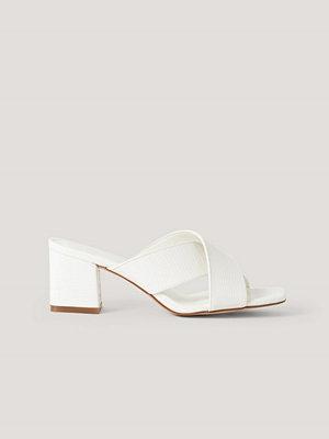 NA-KD Shoes Mules-Sandal Med Korsade Band offvit