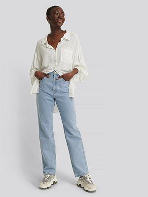 Jeans - NA-KD Reborn Recycled Raka Jeans Med Hög Midja blå