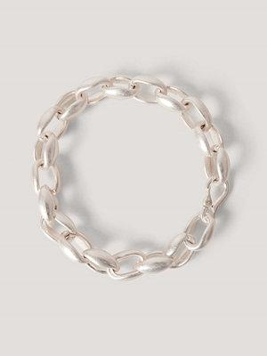 NA-KD Accessories smycke Oversize, Tjock Kedjehalsband silver