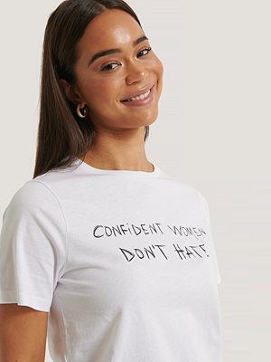 NA-KD Reborn Oversized T-Shirt Med Tryck vit