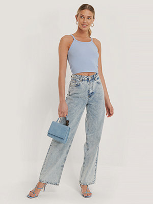 NA-KD Trend Wide Leg Denim blå