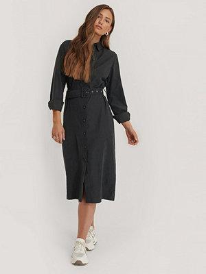 NA-KD Skjortklänning Med Skärp svart