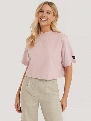 Dr. Denim Croppad T-Shirt rosa