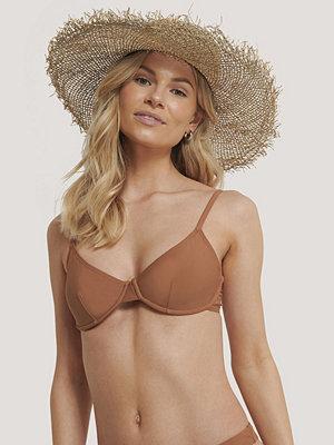 NA-KD Swimwear Basic Bikini Cup Bra brun