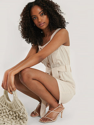 Jumpsuits & playsuits - NA-KD Linen Blend Playsuit beige
