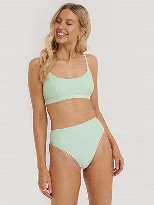 NA-KD Swimwear Maxi Highwaist Bikini Panty grön