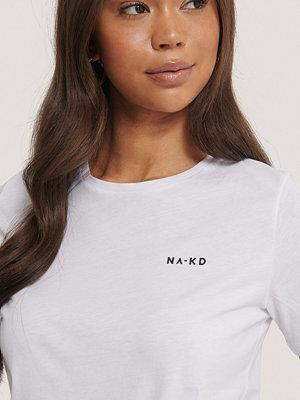 NA-KD Basic T-Shirt Med Logga vit
