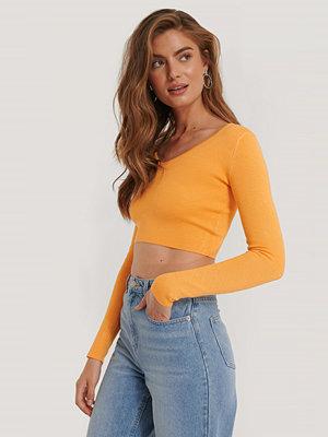 Kim Feenstra x NA-KD Croppad Topp orange