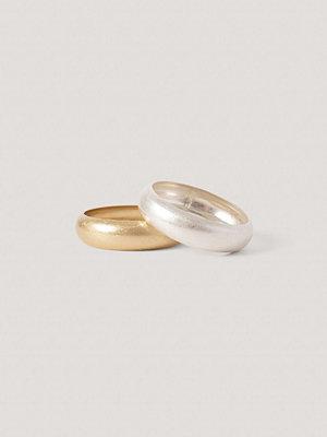 NA-KD Accessories smycke Matta Tjocka Armband silver guld