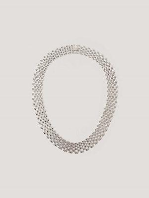 NA-KD Accessories smycke Halsband Med Platt Kedja silver