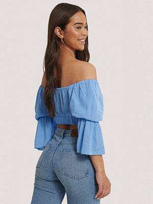 Trendyol Off Shoulder-Topp blå