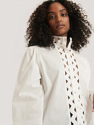 NA-KD Boho Skjorta Med Detaljer vit