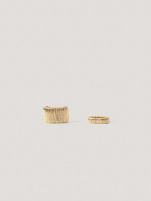 NA-KD Accessories smycke Double Pack Wired Rings guld