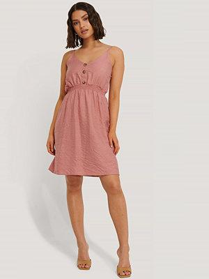Trendyol Button Detail Mini Dress rosa
