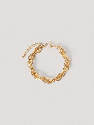 NA-KD Accessories smycke Chunky Vristlänk Med Repkedja guld