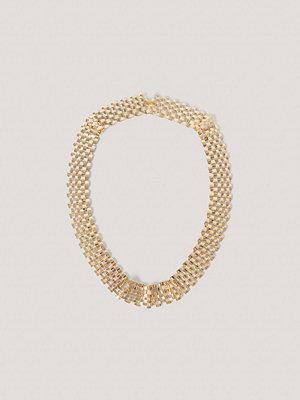 NA-KD Accessories smycke Halsband Med Platt Kedja guld