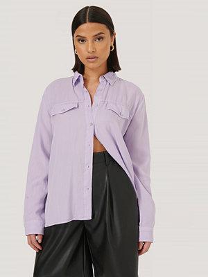 Trendyol Skjorta Med Knappar Och Ficka Fram lila