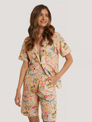 NA-KD Trend Oversize Skjorta multicolor