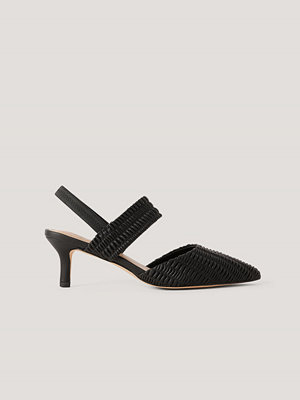 NA-KD Shoes Sling-Back Pumps Med Rysch svart