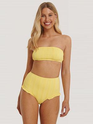 NA-KD Swimwear Wide Ribbed Maxi Higwaist Panty gul