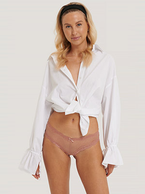 NA-KD Lingerie Basic Brazilian Mesh Panty 2-pack rosa